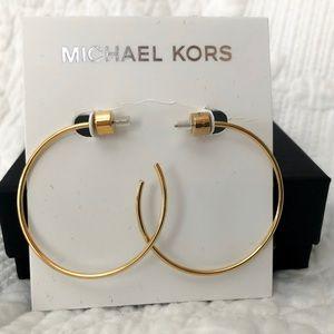 "Michael Kors Jewelry - Michaels Kors Gold tone hoops 1"" diameter."